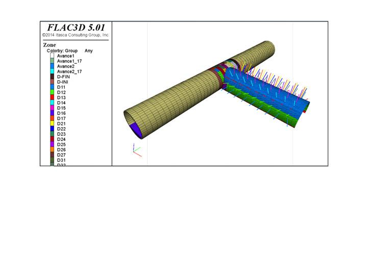 Modelo 3D del entronque entre galería y túnel del metro de Riyadh Diseño de túneles y obras subterráneas Projectes subterranis Underground projects